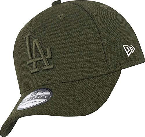 New Era Los Angeles Dodgers 39thirty Stretch Cap Diamond Era Tonal Olive - S-M