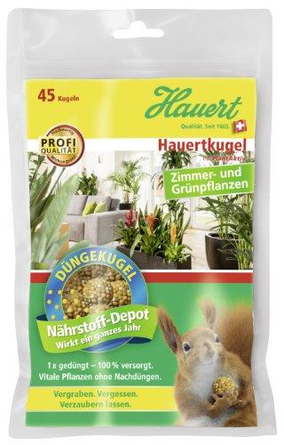 Hauert HBG Dünger 109761 Hauertkugel für Zimmer und grün Pflanzen, 45 Stück
