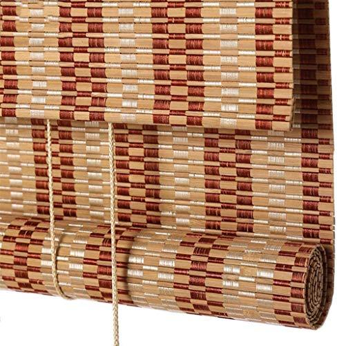 RENQIAN bamboe rolgordijnen voor binnen en buiten licht Filteren Roll-Up tinten Home Window Blind zon schaduw (kleur: A Maat: 60X135Cm)