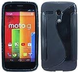ENERGMiX Silikon Hülle kompatibel mit Motorola Moto G (1.Gen.) Schutzhülle Case Cover Gel in Schwarz