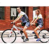 WANYE Pareja Bicicleta Bicicleta De 26'Rode, Equipo De 21 Velocidades, Bicicleta De Cercanías para Adultos, Hombre Y Mujer White-21 Speed