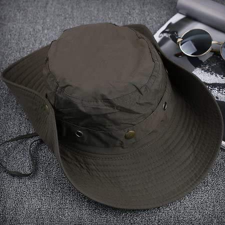 Mannen Zomer outdoor hoeden ronde rand 1955 wastafel cap uv vismuts alpine hoed, zonnebrandcrème en hoed cap,(56-58cm leger groen)
