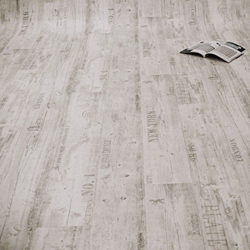 PVC Bodenbelag Rustikal Hell mit Aufdruck (Musterstück in DIN A4)