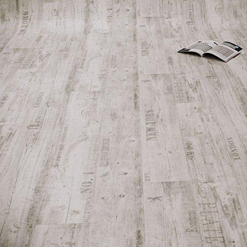PVC Bodenbelag Rustikal Hell mit Aufdruck (Muster DIN A4)