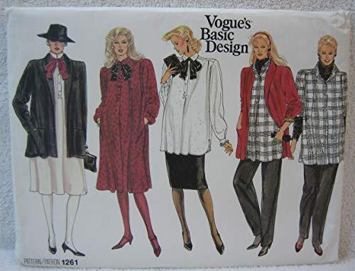 Vogue Basic Design Pattern 1261 - Misses Maternity Jacket, Dress, Top, Pants & Skirt (Size 6-8-10)