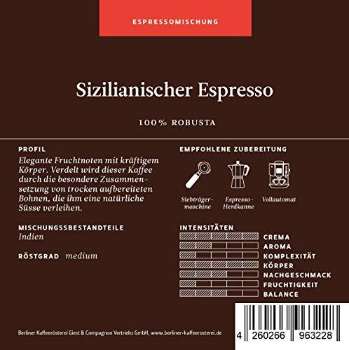 BKR | Espresso | Sizilianischer Espresso | Robusta | Mischung 1000g Bohne