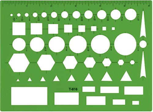 Westcott Technical Drawing Template (T-816), Green