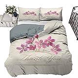 UNOSEKS LANZON Juego de ropa de cama de primavera y temporada, diseño floral dibujado a mano, estilo japonés, multicolor