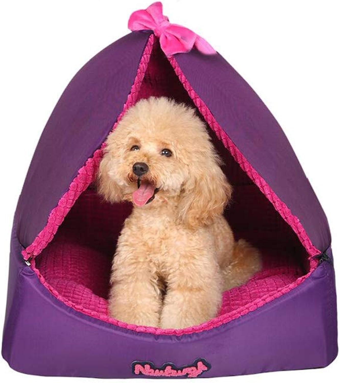 FF Puppy Kennel Washable Pet Supplies Four Seasons Pet House Cat Nest Summer (Size   M)