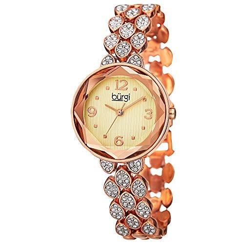 Burgi BUR124RG Orologio da Polso da Donna, Cinturino in Lega, Oro Rosa