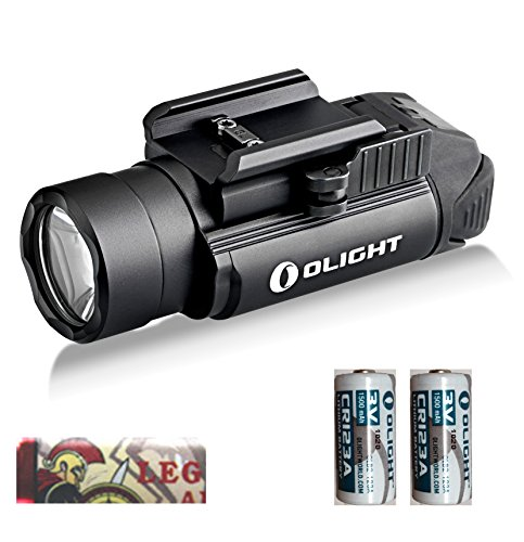 OLIGHT PL2 Valkyrie 1200 Lumen CREE XHP35 HI Led Pistol Flashlight with Mount for Glock and 1913 Two CR123A Lithium Batteries and LegionArms Sticker