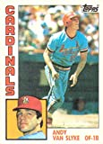 1984 Topps Baseball #205 Andy Van Slyke Rookie Card. rookie card picture