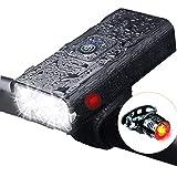 自転車ライト – YCADEN 1000ルーメン「6in1機能搭載」 USB充電式 大容量5200mAh 自転車ヘッドライト付き 高輝度 アルミ合金製