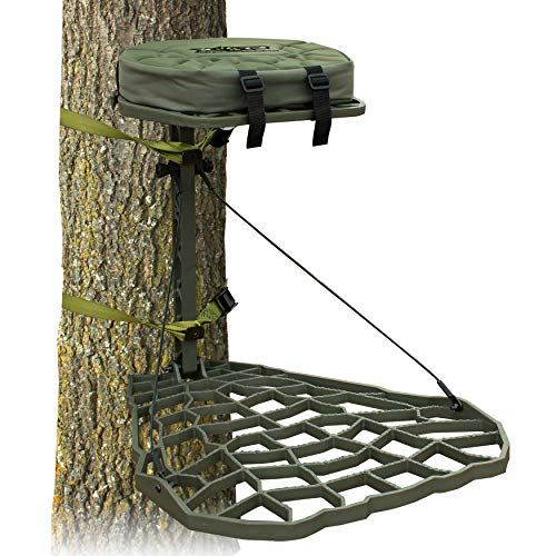XOP-XTREME OUTDOOR PRODUCTS Vanish Evolution - Cast Aluminum Hang On Tree Stand for Hunting - Deluxe Deer Stand
