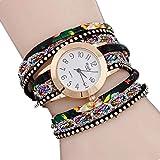 MGGBDH Bohemian Watch Bracelet, Winding Bracelet Watch, Woven Snake Quartz Watch, Leather Chain Quartz Womens Multilayer Bracelet Wrist Watches Relojes