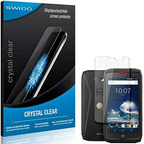 SWIDO Schutzfolie für Crosscall Action-X3 [2 Stück] Kristall-Klar, Hoher Festigkeitgrad, Schutz vor Öl, Staub & Kratzer/Glasfolie, Bildschirmschutz, Bildschirmschutzfolie, Panzerglas-Folie