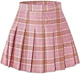 "Toddler Little & Big Girls' Pleated School Uniform Plaid Short Skirt, Pink Plaid, 13-14 Years/Height 66.9"" = Tag 170"