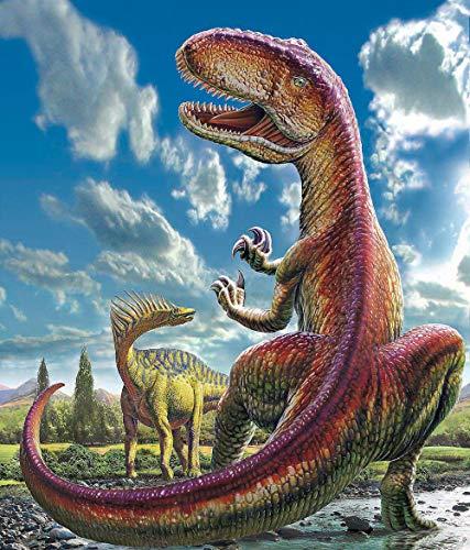 WFYY Puzzel Für Erwachsene 1000 Teile Dinosaurier, Urwald Wohnkultur Gemälde 75X50Cm