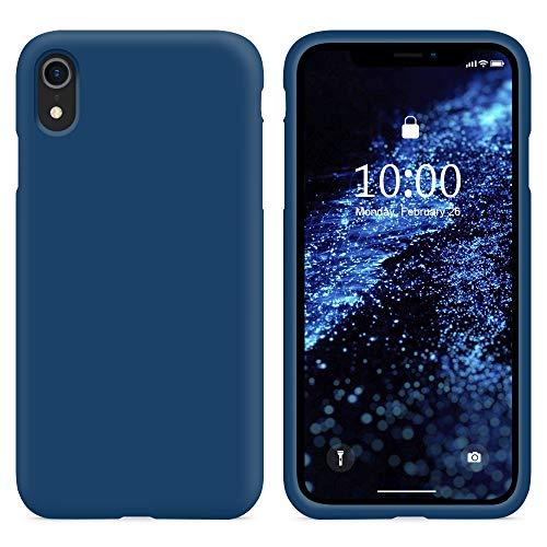 SURPHY Cover Compatibile con iPhone XR, Custodia per iPhone XR Silicone Cover Antiurto con Fodera in Microfibra, Anti-Graffio Full Body Protettiva Case per iPhone XR 6.1 Pollici (2018),Blu Orizzonte
