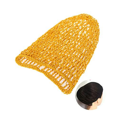 Solustre Filets à Cheveux Bord Élastique Maille Filets à Cheveux Snood Perruque Dormir Crochet Filet à Cheveux Couverture de Cheveux pour Chignon (Jaune)
