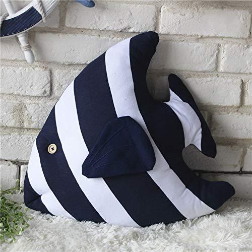 New Fish Shape Cushion Bed Backrest Support Throw Pillow With Pillow Insert, Size: 48 X 45cm(Blue) Ou Rui Ka Ke Ji (Color : Blue)