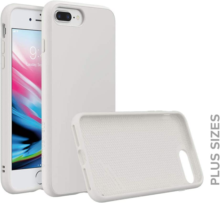 RhinoShield Case Compatible with [iPhone 8 Plus/iPhone 7 Plus]   SolidSuit - Shock Absorbent Slim Design Protective Cover [3.5 M / 11ft Drop Protection] - Classic White