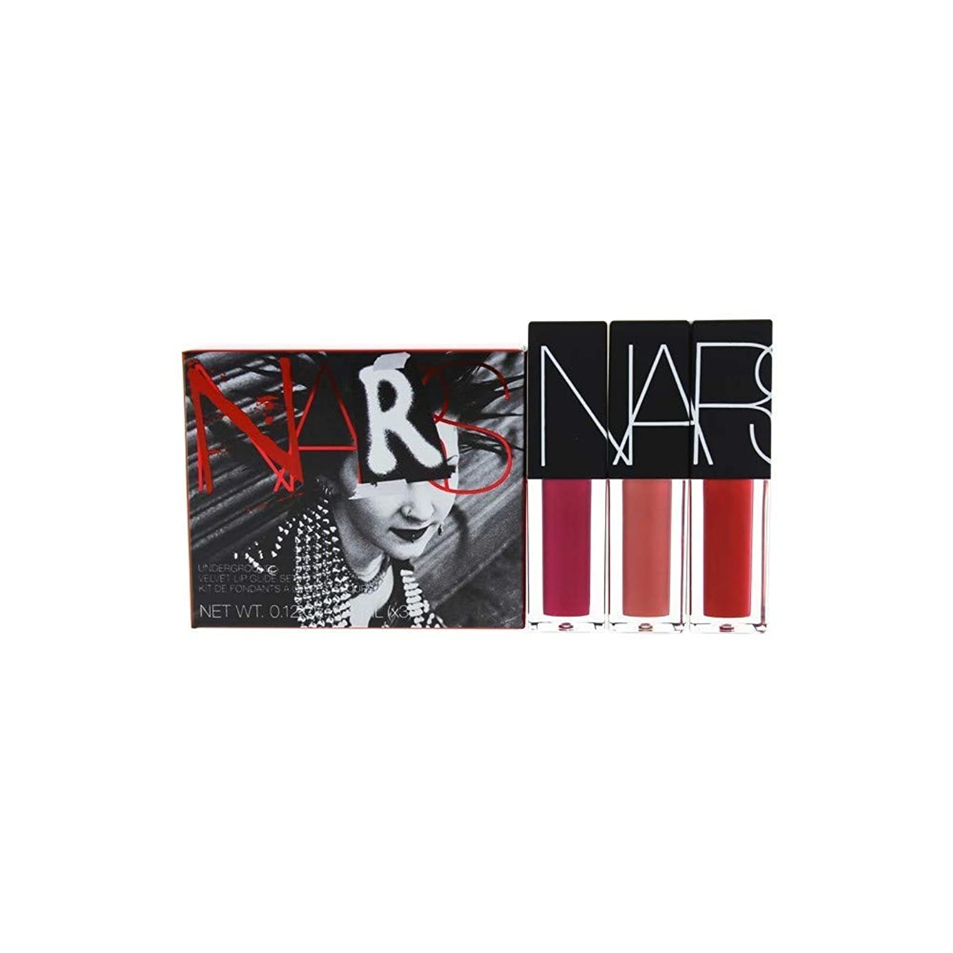 幹ブラウズサスペンドNars Underground Velvet Lip Glide Set By Nars for Women - 3 X 0.12 Oz Lipstick Banshee, Vandal, Camden Girls, 3count [並行輸入品]