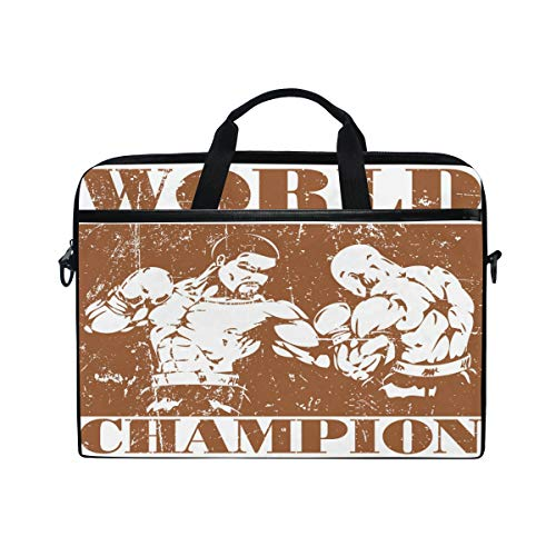 EZIOLY Boxing World Champion Laptop Shoulder Messenger Bag Case Sleeve for 13 Inch to 14 inch Laptop