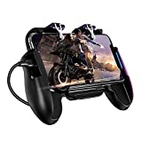 Yuanzhou Mobile Game Controller Gamepad with Radiator Joypad Standard Controllers USB Wired Joystick Metal Shoot and Aim Fire Trigger Keys L1 R1for Smartphone Games, 18125cm