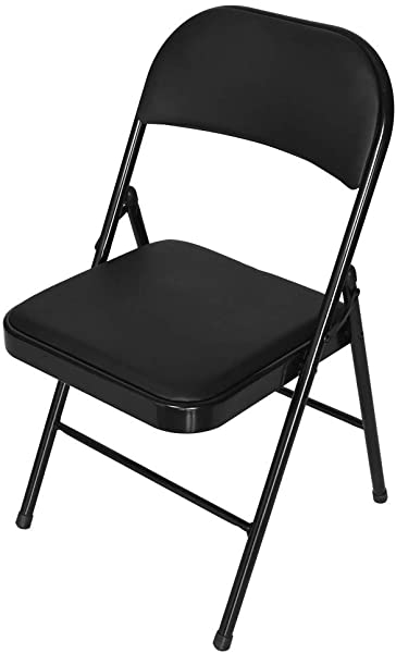 Fiudx Office Chair Super Load Bearing Backrest Folding Chair Steel Plate Base Leisure Office Chair