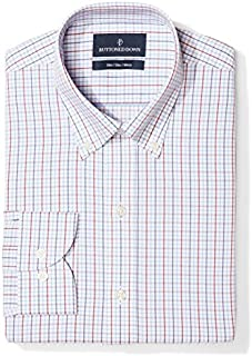 Amazon Brand - BUTTONED DOWN Men's Slim Fit Check Dress...