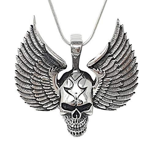 TreasureBay Colgante de plata de ley 925 para hombre, diseño gótico