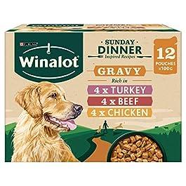 WINALOT Dog Sunday Dinner Dog Pouches in Gravy 12 x 100 g