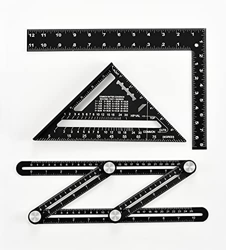 ZOTA Tool Gifts for Men, Multi Angle Measuring Ruler + Rafter Square 7