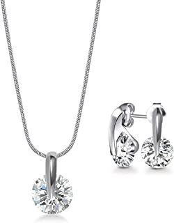 Mestige Necklace and Earrings Set, with Swarovski Crystals - MSSE3330