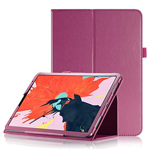 Litchi Texture Horizontal Flip Leather Case for iPad Pro 11 inch 2018, with Holder & Sleep/Wake-up Function Accessory Same Parts From Original Factory (Color : Rose red)