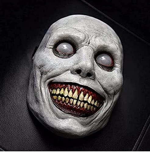 woejgo Horror maske, Scream maske, Gruselige Halloween Maske Lächelnd Dämon Gruselige Halloween Maske Horror Film Killer Maske Totenkopf Masketon Kopfbedeckung.
