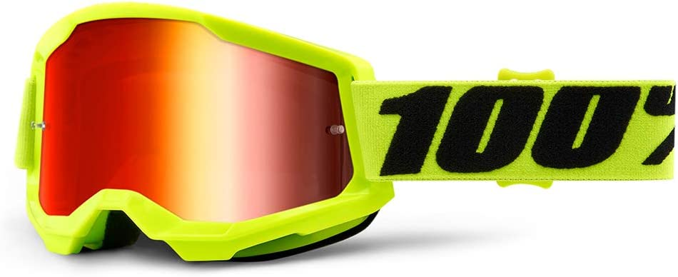 100 Percent STRATA 2 Goggle Yellow-Mirror Red Lens, Adultos Unisex, Amarillo, ESTANDAR