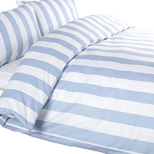 Louisiana Bedding Set y Juego Cubre Funda de Edredón Nórdico Azul y Blanco Double