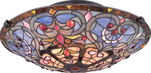 Quoizel TF1805SVB 2-Light Tiffany Flush Mount in Vintage Bronze