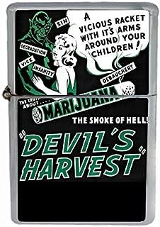 Devil's Harvest Vintage Flip Top Oil Cigarette Lighter
