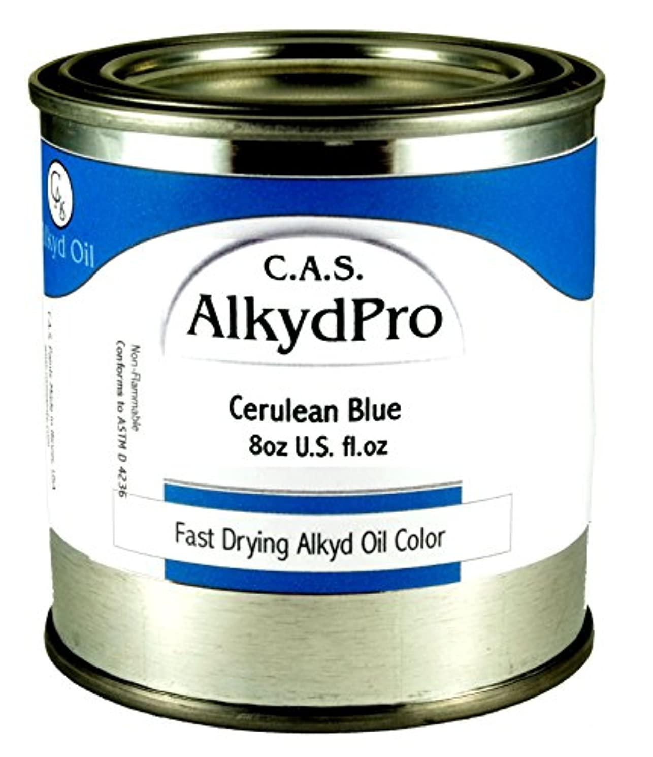 C.A.S. Paints AlkydPro Fast-Drying Oil Color Paint Can, 8-Ounce, Ceruleum Blue