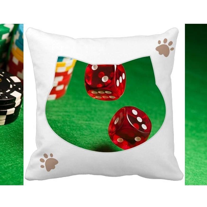 着替える非武装化悲惨ダイスチップ緑のテーブルの写真 枕カバーを放り投げる猫広場 50cm x 50cm
