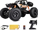1:10 Juguetes Gigantes eléctricos de Alta Velocidad Recargables de 2.4 GHz RTR para niños Monster Crawlers Chariot RC Truck 4WD Control Remoto Stunts Car Off-Road Racing Vehicles LED Light B