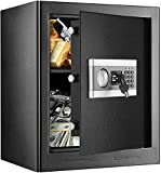 1.53Cub Fireproof and Waterproof Safe Cabinet Security Box, Digital Combination Lock Safe with Keypad LED Indicator, for Cash Money Jewelry Guns Cabinet