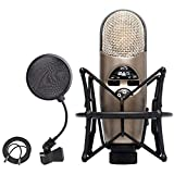 CAD Audio M179 Variable-Pattern Condenser Microphone with Shockmount + On Stage 4-Inch Pop Filter + XLR Mic Cable