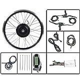 GGD 36V350W Moto Kit De Conversión Kit De Accesorios para Bicicleta Eléctrica Eléctrica Delante De Cubo De Rueda con Motor LCD6 Display 16-28 Pulgadas 700C Fácil De Instalar,24inch LCD Sets