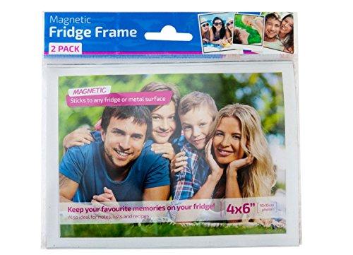 Magnetic Fridge Photo Frame with White Border