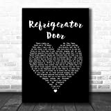 BIGGROUP #Luke Combs Refrigerator Door Black Heart Song Lyric Quote Music Print Lovers Poster Wall Decor Art Gifts