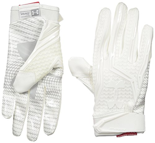 Under Armour Men's Spotlight Football Glove, White/Silver, Small